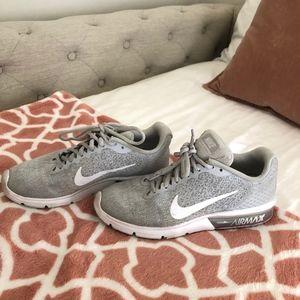 Grey Nike Airmax sneakers